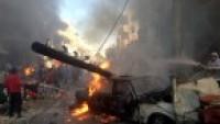 Foto: Suriye'nin Homs Kentinde ılımlı(!) muhaliflerin düzenlediği bombalı terör eyleminden kareler…