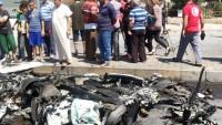 Teröristler Suriye'nin Homs kentinde bombalı araçla saldırı yaptı