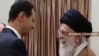 Video: Suriye'nin Direnişçi Devlet Başkanı Beşar Esad,Ak babaların Suriye'ye saldırmasından bu yana ilk kez İmam Ali Seyyid Hamaney'i ziyaret etti