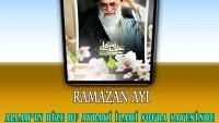 Tasarım: İmam Ali Hamaney: Ramazan Ayı, Allah'ın bize bu aydaki ilahi sofra sayesinde Cennete gitme fırsatı sunduğu bir aydır