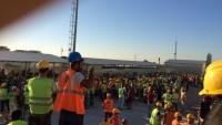 Mersin Şehir Hastanesi inşaatında maaş alamayan işçiler eylemde