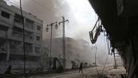 Doğu Guta'daki Teröristler Sivillere Saldırdı