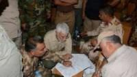 Irak Gönüllü Güçlerinin Şii ve Sünni komutanları Selahaddin'de toplandı