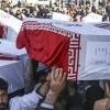 60 şehidin pak naaşları İran'a getirildi