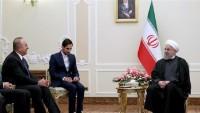 İran Cumhurbaşkanı Hasan Ruhani, Türkiye Dışişleri Bakanını Kabul Etti