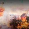 Siyonist İsrail'in Celile Kentindeki 12 Katlı Bir Otel Alev Alev Yandı