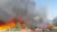 Siyonist İsrail'in Hayfa Kentinde Yangınlar Şehrin Merkezine Ulaştı