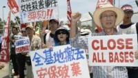 Japonya'da ABD askeri üssüne karşı protestolar sürüyor