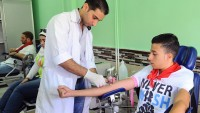 Suriye Özel Kasiyon Üniversitesi öğrencileri, orduya kan bağışında bulundu
