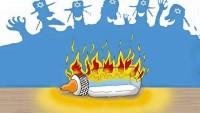 MÜSLÜMANLAR BİRBİRLERİNİN MEZHEPLERİYLE UĞRAŞIRKEN, SİYONİSTLER FİLİSTİNLİ ÇOCUKLARI EĞLENEREK YAKIYORLAR…