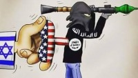Karikatür: Teröristlerin efendisi Siyonist İsrail ve Büyük Şeytan Amerika'dır