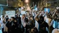 Arabistan'ın Katif şehri halkı, Kuveytli Müslümanlara destek gösterisi düzenledi