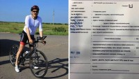 Kazak lider, bisikletiyle trafik cezası aldı