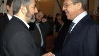 Halid Meşal İle Rusya Dışişleri Bakanı Lavrov, Katar'da görüştü