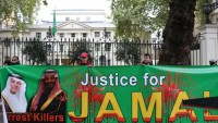 Londra'da Arabistan karşıtı gösteri yapıldı
