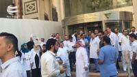 Londra'da Suudi rejimi elçiliği önünde gösteri düzenlendi