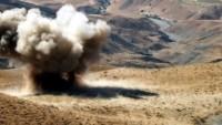 Teröristler Suriye'nin Sehle Al Gab bölgsine sızmak isterken Suriye ordusunun döşediği mayınlar patladı