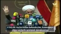 Video – Irak Alimler Birliği Sünni Başkanı Şeyh Halid el-Molla: 12 Yıldır Suudilerin üzerimize saldığı domuzların eliyle katlediliyoruz, kimsenin sesini çıkardığı yok.