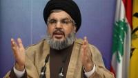 Hasan Nasrullah: Suriye sorunu siyasi yolla çözümlenmeli