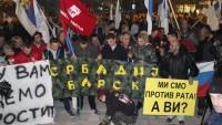 Karadağ'da NATO protestosu