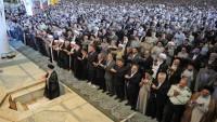 Tahran'da bayram namazı İslam inkılabı rehberinin imametinde kılındı