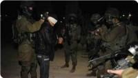 Siyonistler Sabahın Erken Saatinde Birçok Filistinlinin Evine Baskın Düzenlendi