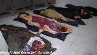 Teröristler Dün Akşam İdlib Kırsalında Bir Köyde 30 Kişiyi Katletti