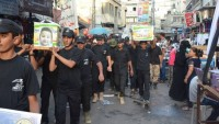 Foto: Filistinli gençler şehid bebek Ali Devabişe için sembolik cenaze töreni düzenledi.
