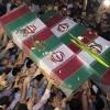 Şiraz kenti halkı, isimsiz 94 şehide veda etti