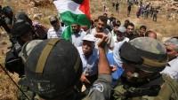 İşgalci İsrail Güçleri Batı Şeria'daki Gösterilere Vahşice Saldırdı