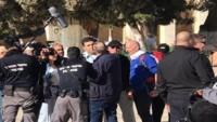 Siyonistler polis eşliğinde Kudüs'te saldırı düzenlediler