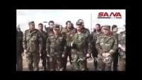 Video: Suriye Savunma Bakanı işgalden kurtarılan bölgeyi ziyaret etti