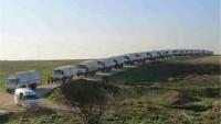 Suriye'de Kuşatma Altındaki Bölgelere Yardım Ulaştırılmaya Başlandı