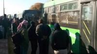5 Bin terörist, Şam'ın Dumayır bölgesinden çekiliyor