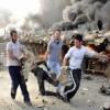 Suriye'de teröristlerin kimyasal madde deposunda patlama
