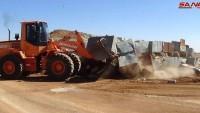 Suriye Ordusu Sınır Kapısına Kadar Otobanı Temizleyip Güvenliğini Sağladı