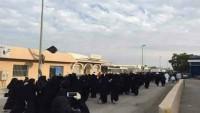 Siyonist Suudi polisi, Avamiye'de göstericilere saldırdı