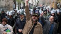Foto: Tahran halkı, Nijerya Büyükelçiliği önünde Müslümanların katliamını kınadı