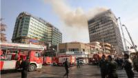 Tahran'da Ticaret Binası'nın patlama ve çöküşün ardından içerideki 40 itfaiyeciden haber alınamıyor