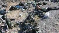 Foto: Suriye Ordusunun Halep kırsalının kuzeydoğu kırsalında öldürdüğü teröristlerden bazıları