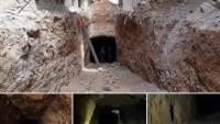 Doğu Guta'da Teröristlerin Irbin'den Mesraba'ya Kadar Uzanan Yeni Bir Tünelleri Bulundu