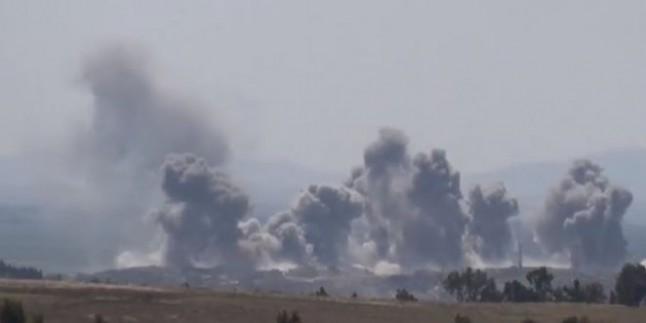 Al-Lataminah Beldesinde Teröristlere Ait Konvoy Suriye Uçaklarınca İmha Edildi