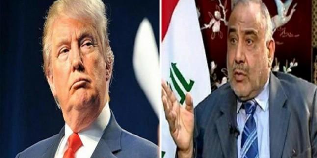 Irak başbakanı Trump ile görüşmek için iki şart koştu