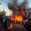 Ukrayna'da Ekonomik Kriz Protesto Edildi