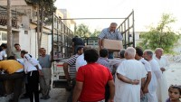 Suriye'nin İdlib Kentinde Terör Mağduru Ailelere 320 Sepet Gıda Yardımı Dağıtıldı