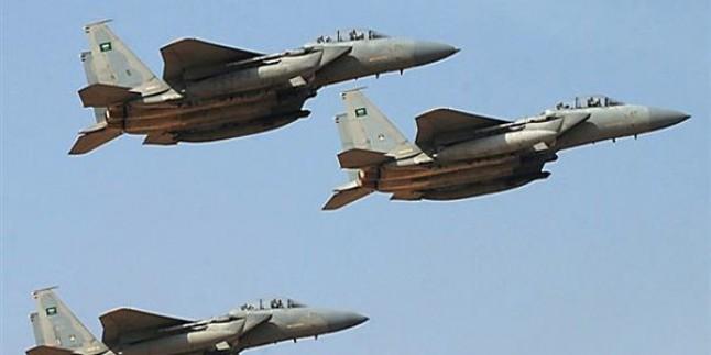 Katil Suud Güçlerine Ait Uçaklar Yemen Halkını Bombaladı