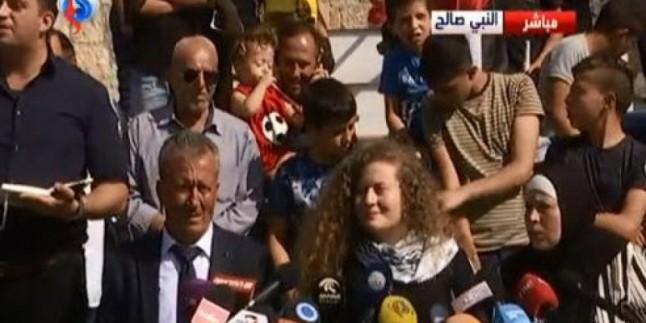 Filistinli cesur kız Temimi işgalci rejime karşı direnişe vurgu yaptı